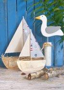 Segelboot Maritim grau klein -
