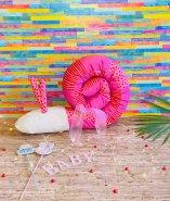 Bettschnecke  rosa Puckschnecke Bettschlange - aus Bio-Baumwolle