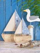 Segelboot Maritim blau groß -